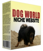 Dog World Flipping Niche Site Template with private label rights