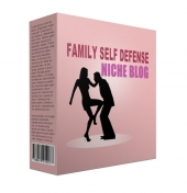 Family Self Defense Flipping Niche Site Template with private label rights