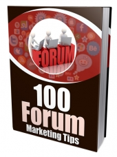 100 Forum Marketing Tips eBook with Master Resell/Giveaway Rights