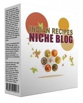 Indian Recipes Flipping Niche Blog Template with private label rights