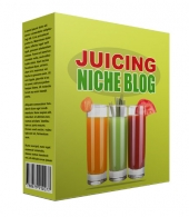 New Juicing Flipping Niche Blog Template with private label rights
