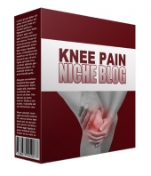New Knee Pain Flipping Niche Blog Template with Personal Use Rights/Flipping Rights
