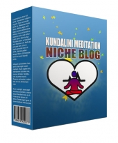 Kundalini Meditation Flipping Niche Blog Template with private label rights