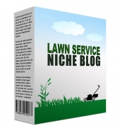 New Lawn Services Niche Blog Template with private label rights