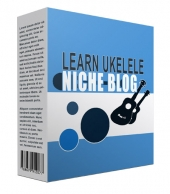 New Learn Ukulele Flipping Niche Blog Template with Personal Use Rights/Flipping Rights