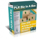 PLR Biz In A Box eBook with Master Resale Rights