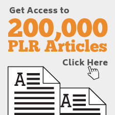 Access to 200,000 PLR articles